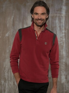 Polo long sleeves Burgundy