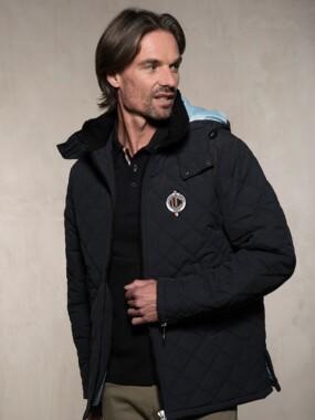 Jacket SQUADRA Black/ Sky Blue