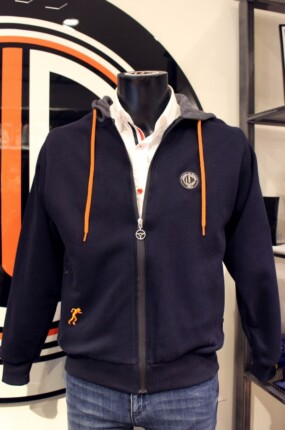 Hood Sweat Shirt  orange cord