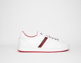 ROMA CUIR blanc rouge